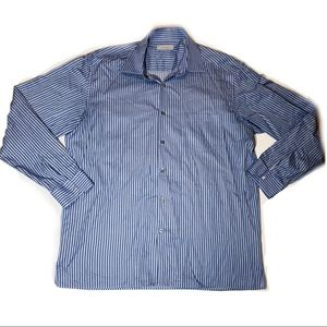 Ermenegildo Zegna Striped Cotton Button Down